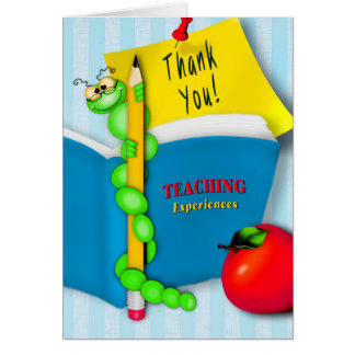 Thanking Teacher from Student - BookWorm Card