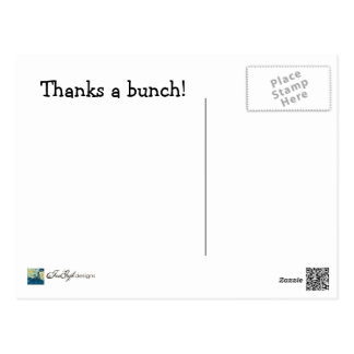 Thanks a Bunch--Thank You Postcard