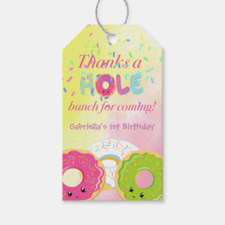 Thanks a HOLE Bunch Donut Thank You Gift Tag