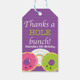 Thanks a HOLE Bunch Donut Thank You Gift Tag Pack Of Gift Tags