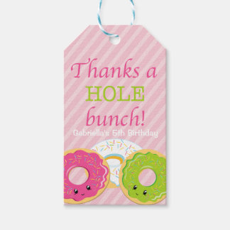 Thanks a HOLE Bunch Doughnut Thank You Gift Tag Pack Of Gift Tags