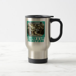 Thanks A Lot Phidippides Funny Marathon Tees Travel Mug