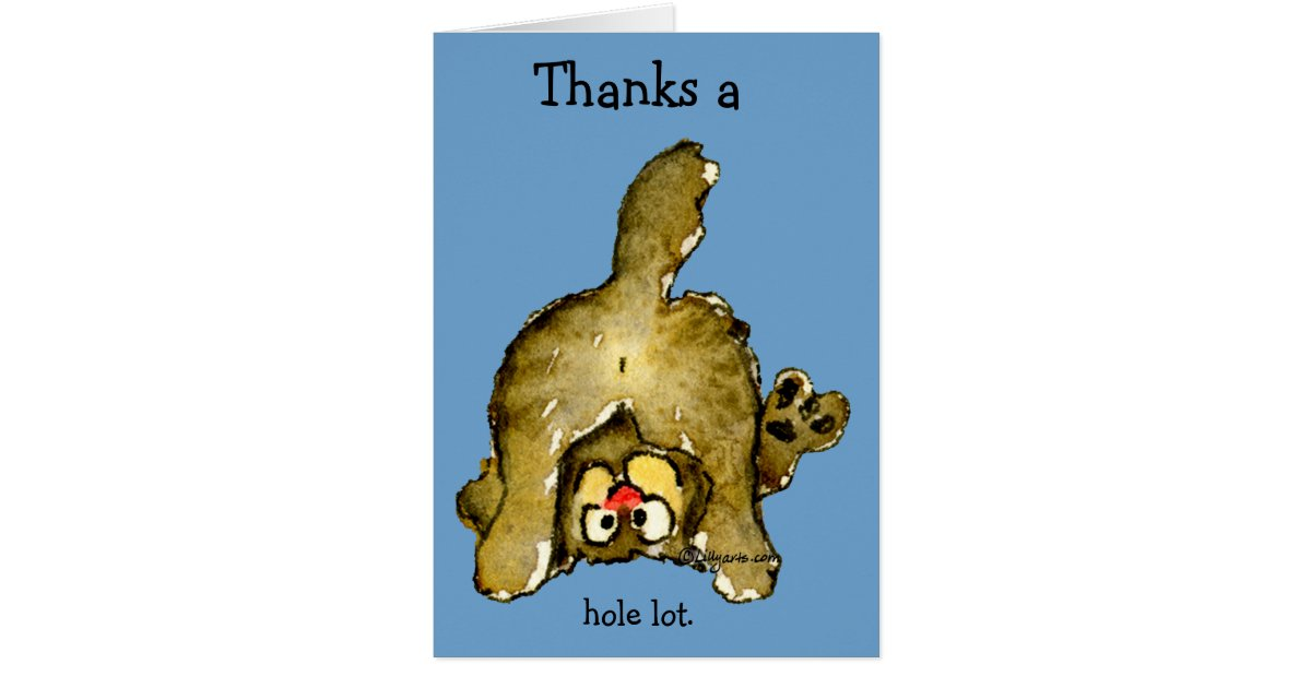 Thanks A Whole Lot Cat Thank You Card Zazzle Ca