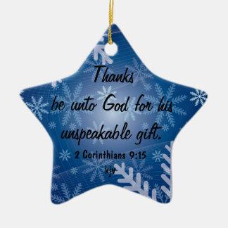 Thanks Be to God Ceramic Ornament