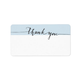 Thanks Calligraphy Custom Color Write-in Address Label