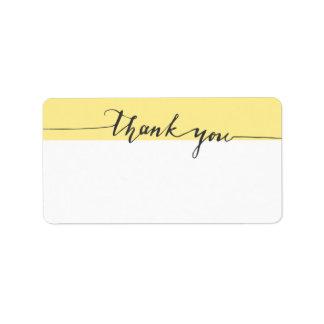 Thanks Calligraphy Dandelion Write-in Address Label