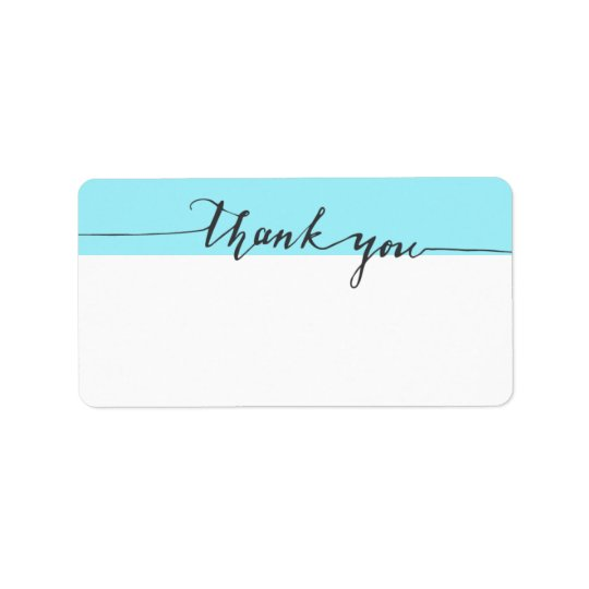 Thanks Calligraphy Turquoise Write-in Address
