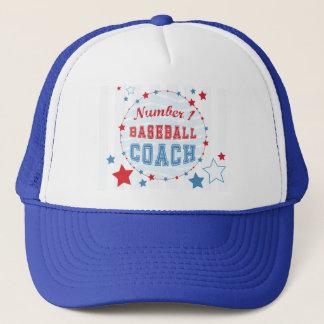 Thanks Coach All-Stars Baseball, Red, Blue Stripes Trucker Hat
