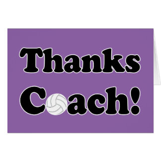 Thanks Coach! Volleyball Coach Thank You Card