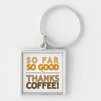 Thanks Coffee Keychain