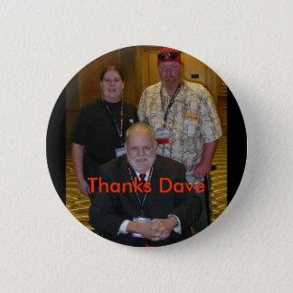 Thanks Dave 2 Inch Round Button