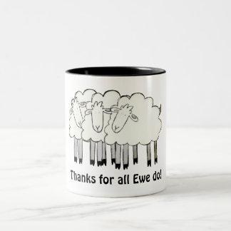 Thanks for all Ewe do! Two-Tone Coffee Mug