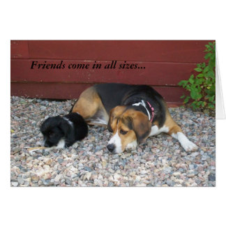 Thanks For Being A Friend Beagle Greeting Card