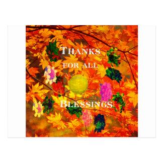 Thanks for blessings postcard