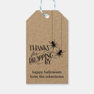 Thanks for Dropping By   Halloween Party Favor Tag Pack Of Gift Tags