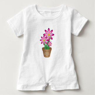 Thanks For Helping Me Grow - Happy Flower Baby Romper