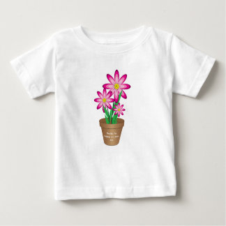 Thanks For Helping Me Grow - Happy Flower Baby T-Shirt