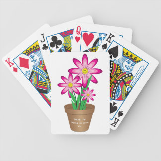 Thanks For Helping Me Grow - Happy Flower Bicycle Playing Cards