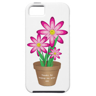 Thanks For Helping Me Grow - Happy Flower Case For The iPhone 5