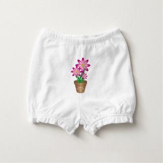Thanks For Helping Me Grow - Happy Flower Diaper Cover