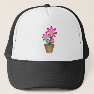 Thanks For Helping Me Grow - Happy Flower Trucker Hat
