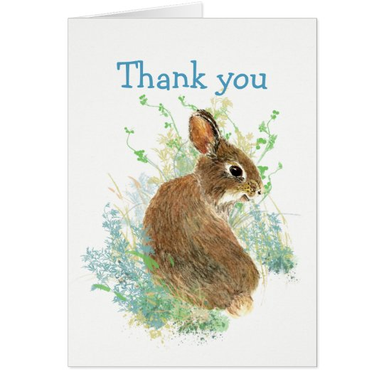 Thanks for Listening  Cute Bunny Rabbit Card