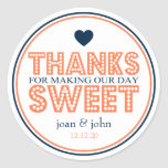 Thanks For Making Our Day Sweet (Coral / Navy)