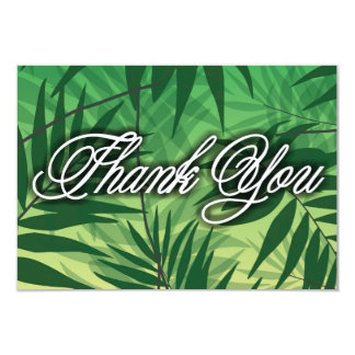 thanks for marriage with tropical texture card