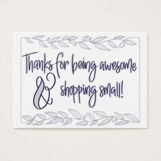 Thanks for shopping small business card