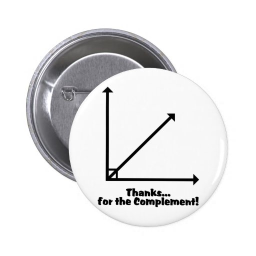 thanks for the complement pinback button