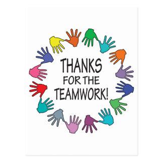Thanks for the Teamwork appreciation card Postcard