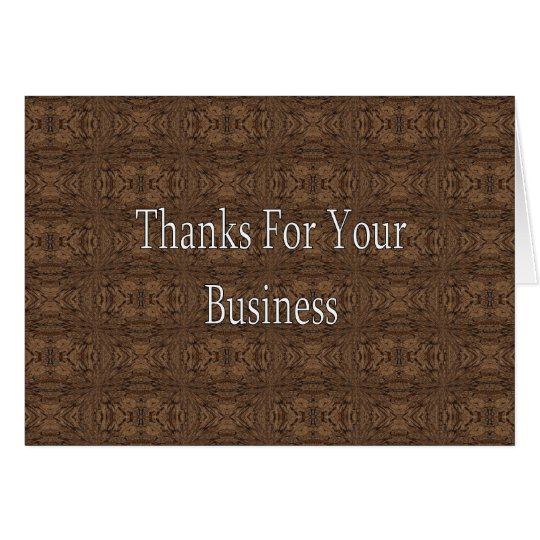 Thanks For Your Business Card