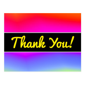 Thanks + Fun Multicolored Rainbow-Like Pattern Postcard