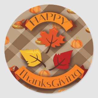 Thanks giving classic round sticker