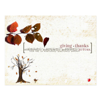 thanks giving post card