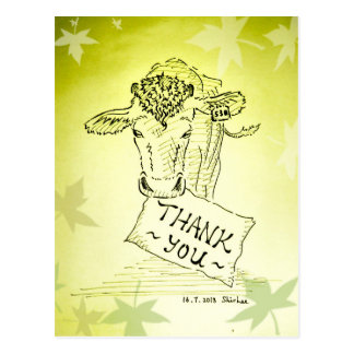 Thanks----  Guernsey Cow Postcard