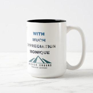 Thanks Janine Two-Tone Coffee Mug