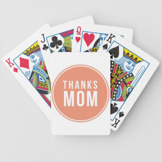 thanks-mom bicycle playing cards
