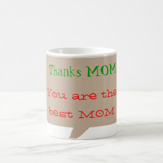 Thanks MOM - editable text for other uses Coffee Mug