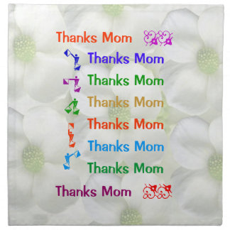 Thanks Mom : Mothers Day Printed Napkin