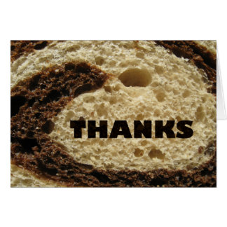 Thanks Rye Bread Design Card
