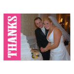 Thanks Shoot Out Thank You Notecard (Dark Pink)