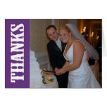 Thanks Shoot Out Thank You Notecard (Dark Purple) Note Card