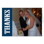 Thanks Shoot Out Thank You Notecard (Navy Blue) Note Card