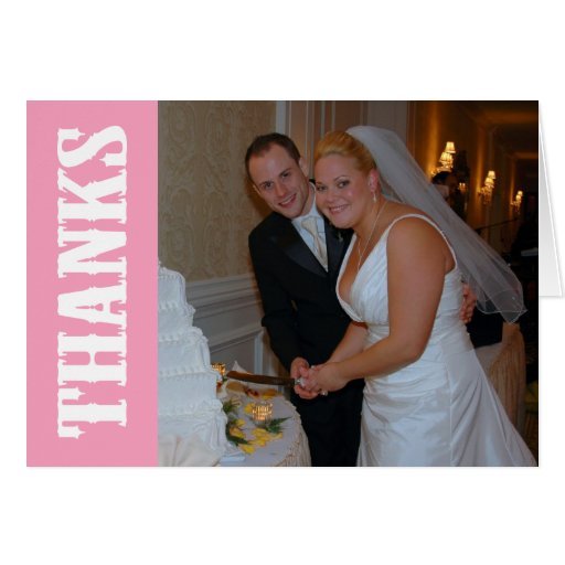 Thanks Shoot Out Thank You Notecard (Pink) Note Card