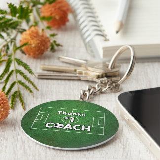 Thanks Soccer Coach Grass Field Basic Round Button Keychain