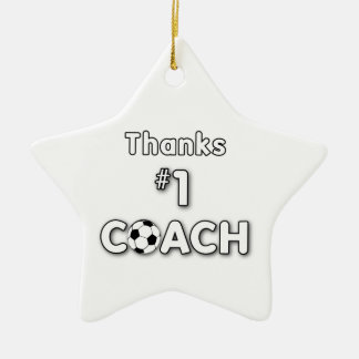 Thanks Soccer Coach Grass Field Ceramic Ornament