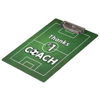 Thanks Soccer Coach Grass Field Clipboard