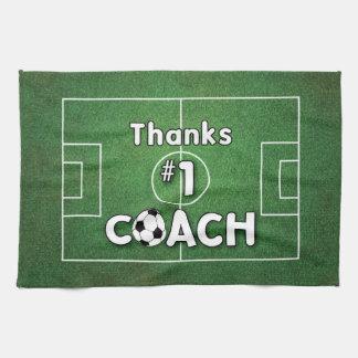 Thanks Soccer Coach Grass Field Kitchen Towel