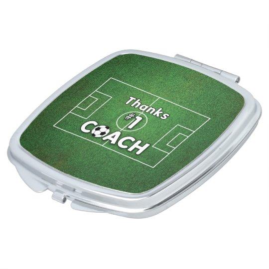 Thanks Soccer Coach Grass Field Makeup Mirrors